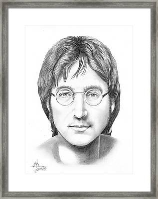 John Lennon Framed Print by Murphy Elliott