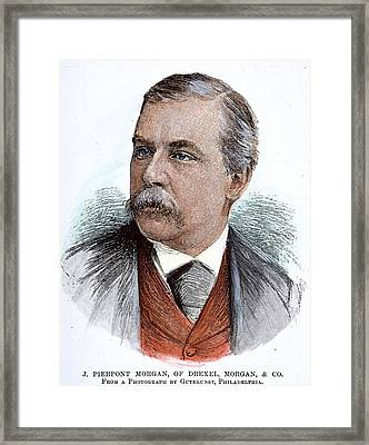 John Pierpont Morgan (1837-1913) Framed Print by Granger