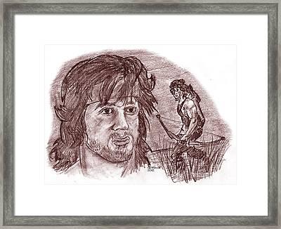 John Rambo Framed Print by Chris  DelVecchio
