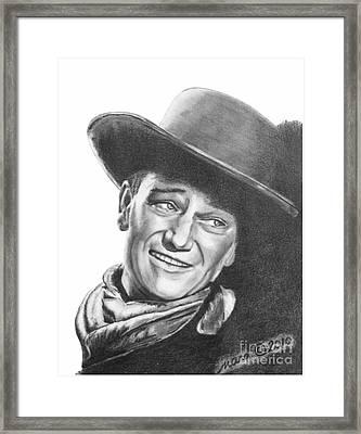 John Wayne   Dreamer Framed Print by Marianne NANA Betts