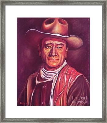 John Wayne Framed Print by Anastasis  Anastasi