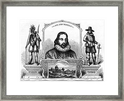 John Winthrop, English Puritan Lawyer Framed Print by Photo Researchers
