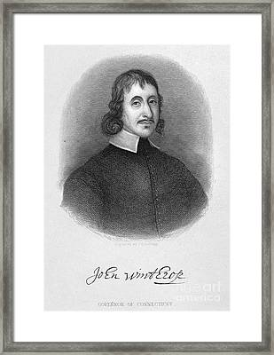 John Winthrop The Younger Framed Print by Granger