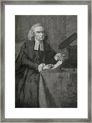 John Winthrop, Us Astronomer Framed Print by Science, Industry & Business Librarynew York Public Library