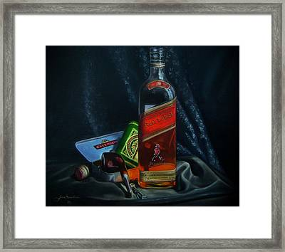 Johnnie Walker  Framed Print by Epifanio jr Mendoza