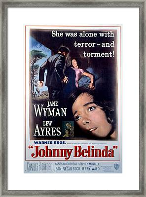 Johnny Belinda, Lew Ayres, Jane Wyman Framed Print by Everett