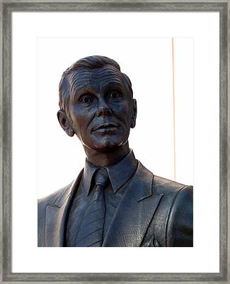 Johnny Carson Framed Print by Jeff Lowe