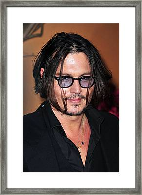 Johnny Depp At Arrivals For The Museum Framed Print by Everett