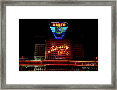 Johnny D's Framed Print by Guy Harnett