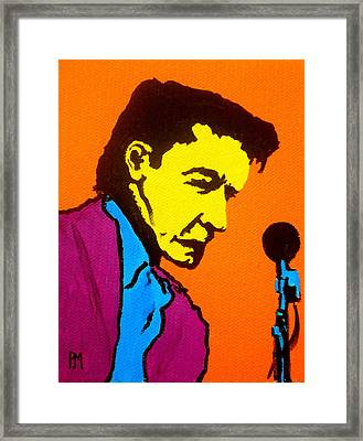 Johnny Pop IIi Framed Print by Pete Maier