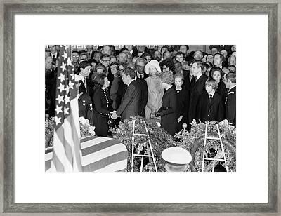 Johnson Funeral, 1973 Framed Print by Granger