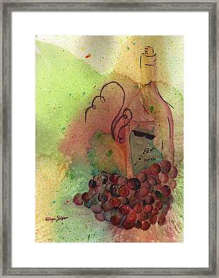 Join Me In A Glass Framed Print by Ellyn Solper