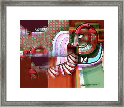 Joker Anxiety Attack Framed Print by Dean Gleisberg