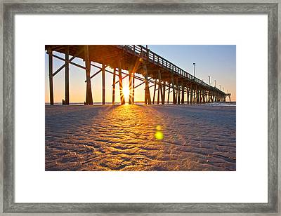 Jolly Roger Pier Sunrise U Framed Print by Betsy C Knapp