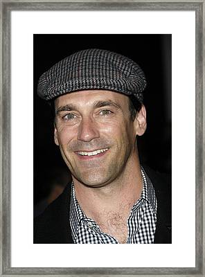 Jon Hamm At Arrivals For Get Him To The Framed Print by Everett