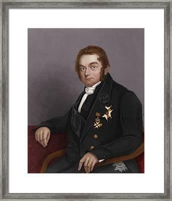 Jons Jacob Berzelius, Swedish Chemist Framed Print by Maria Platt-evans