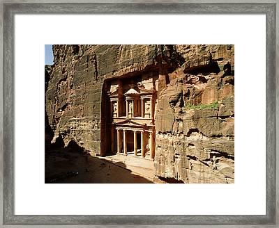 Jordan, Petra, The Treasury (al Khazna) Framed Print by Jon Arnold