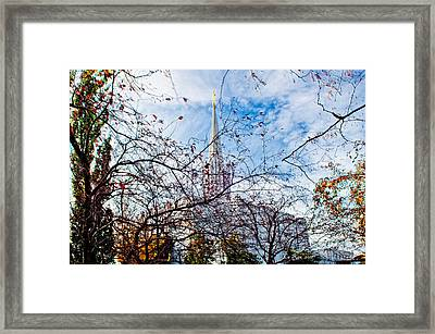 Jordan River Temple Branches Framed Print by La Rae  Roberts