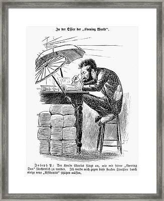 Joseph Pulitzer (1847-1911) Framed Print by Granger
