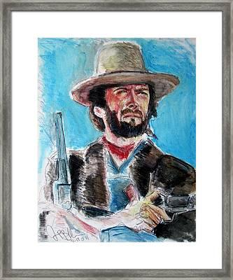 Josey Wales  Framed Print by Jon Baldwin  Art