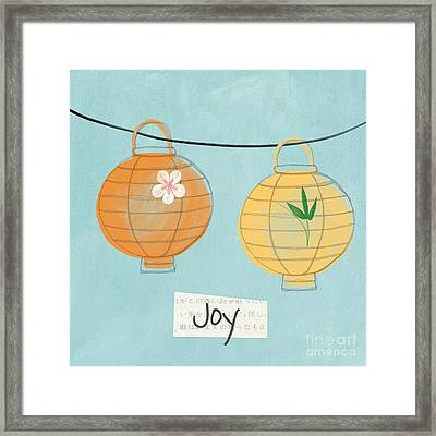 Joy Lanterns Framed Print by Linda Woods