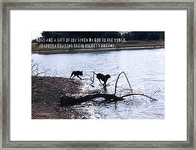 JOY Framed Print by Poni Trax