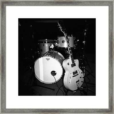 Jp Soars Guitar And Drum Kit Framed Print by Kathy Hunt