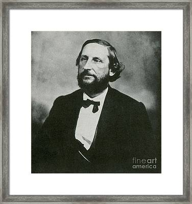 Judah P. Benjamin, Confederate Framed Print by Photo Researchers