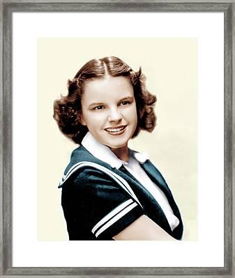 Judy Garland, Ca. Late 1930s Framed Print by Everett