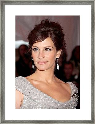 Julia Roberts At Arrivals Framed Print by Everett