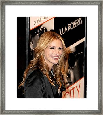 Julia Roberts At Arrivals For Duplicity Framed Print by Everett