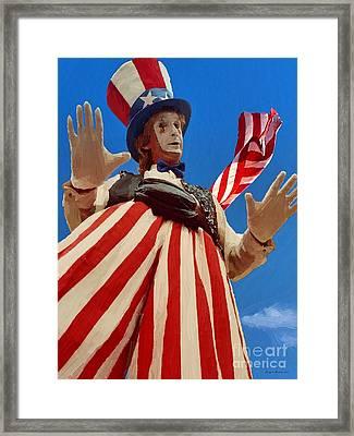July 4th Framed Print by Jerry L Barrett