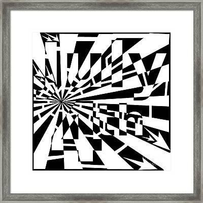 July 4th Maze Framed Print by Yonatan Frimer Maze Artist