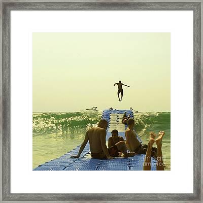 Jump Framed Print by Paul Grand