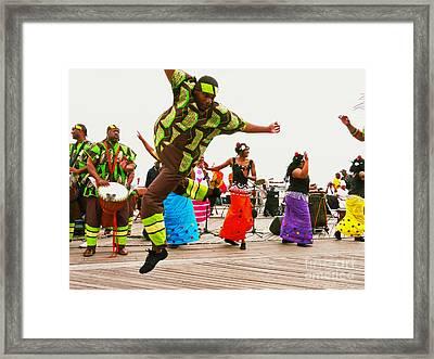 Jump Up Framed Print by Kendall Eutemey