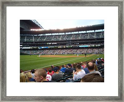 June Seattle Game With Red Sox Framed Print by Erin Stepanek