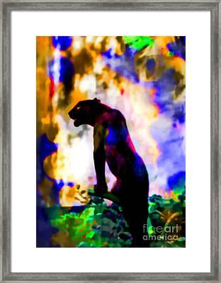 Jungle Cat On The Prowl Framed Print by Elinor Mavor