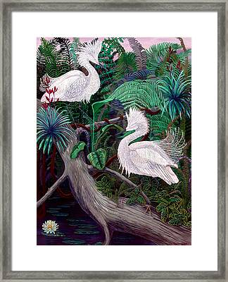 Jungle Dance Framed Print by Lyn Cook