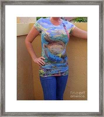 Jupiter Performance Ladies Shirt Framed Print by Carey Chen