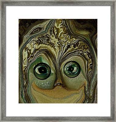 Just A Happy Camper Lol Framed Print by Sherri  Of Palm Springs