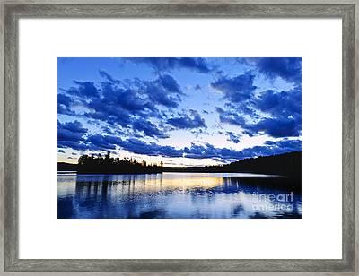 Just Before Nightfall Framed Print by Elena Elisseeva
