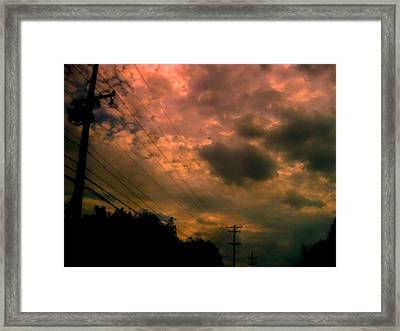 Just Being There Framed Print by Allen n Lehman
