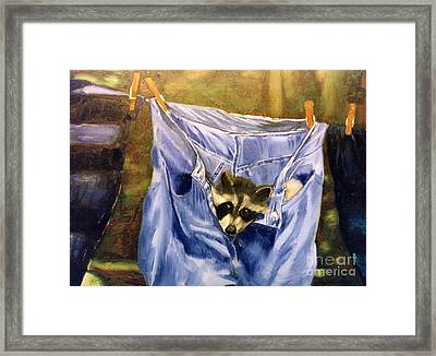 Just Hanging Around Framed Print by Thomas Luca