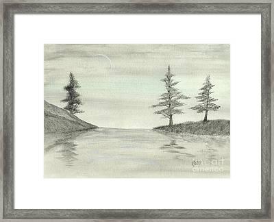 Just Under The Moon Framed Print by Robert Meszaros