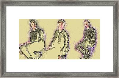 Justin Bieber 40 Framed Print by Jez C Self