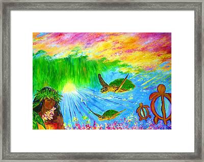kahuna-Honu Framed Print by Tamara Tavernier