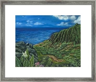 Kalalau Valley Framed Print by Brandon Hebb