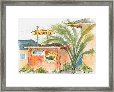 Kalapaki Beach Hut Framed Print by Pat Katz