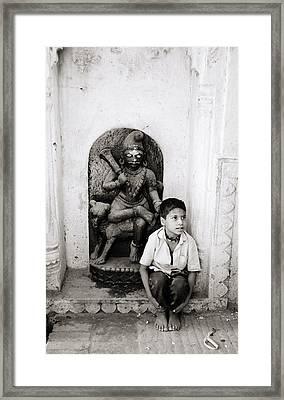Kali In Benares Framed Print by Shaun Higson