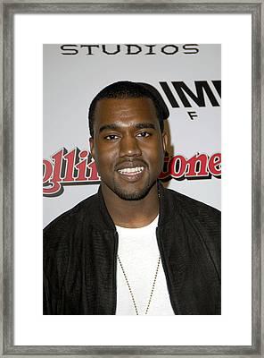 Kanye West At Arrivals For Sin City Framed Print by Everett